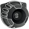 Picture of INVERTED SERIES AIR CLEANER KITS, Deep Cut, black anodized, FOR 99-06 TWIN CAM CV CARB, 01-13 TWIN CAM DELPHI EFI MODELS (EXCEPT 08-13 FLHT, FLHR, FLHX, FLTR, H-D TRIKE), PART# 1010-1211