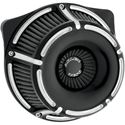 Picture of INVERTED SERIES AIR CLEANER KITS, Slot Track, black anodized, FOR 88-13 XL, PART# 1010-1207