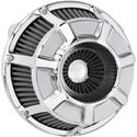 Picture of INVERTED SERIES AIR CLEANER KITS, Bevelled, chrome, FOR 88-13 XL, PART# 1010-1218