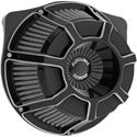 Picture of INVERTED SERIES AIR CLEANER KITS, Bevelled, black anodized, FOR 88-13 XL, PART# 1010-1219